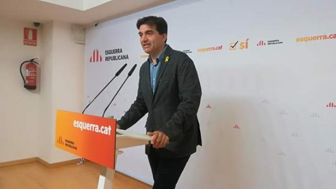El líder de ERC en el Parlament Sergi Sabrià