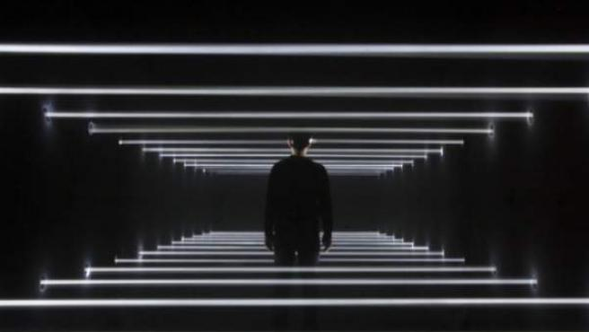 La instalación 'Licht, mehr Licht!' del artista new media Guillaume Marmin se inspira en las últimas palabras de Goethe (Luz, más luz!)