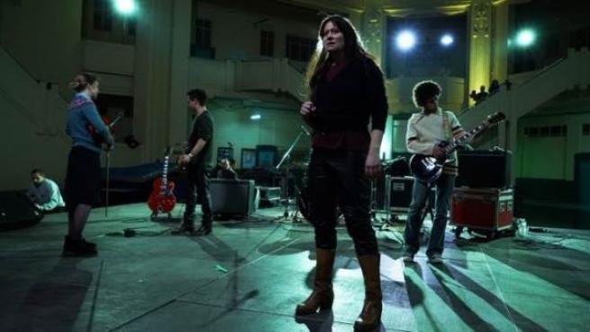 La artista Christa Päffgen, de The Velvet Underground, en un momento del biopic 'Nico, 1998', que se estrena en las salas españolas.
