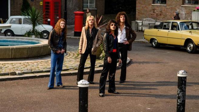 Escena de la película sobre Queen 'Bohemian Rhapsody'.