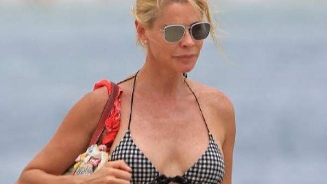 La actriz Belén Rueda, en Ibiza durante unas vacaciones.
