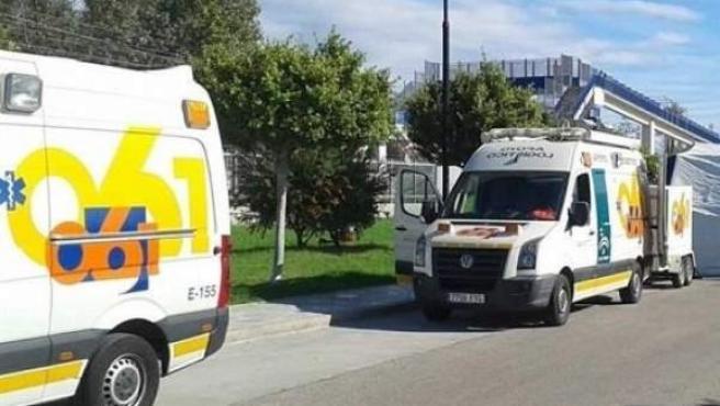 Una ambulancia en una asistencia médica.