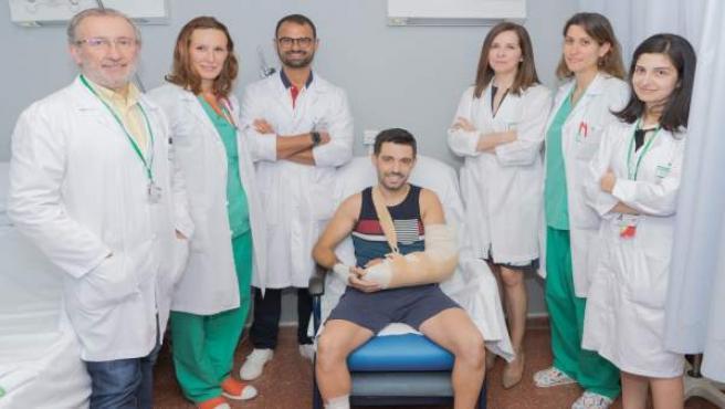 Reimplantan con éxito un brazo seccionado en un accidente laboral