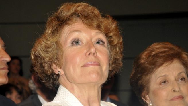 La periodista Rosa María Mateo durante la entrega de las medallas al mérito en el trabajo en 2010.