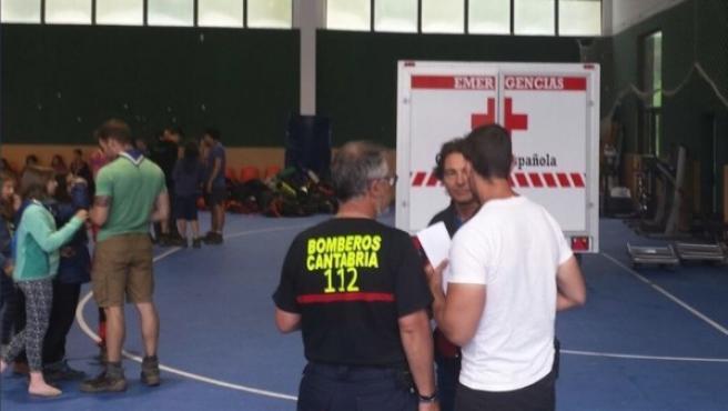 """Las 345 personas que estaban acampadas en Rionansa (Cantabria) y que han sido evacuadas se encuentran """"en perfecto estado""""."""