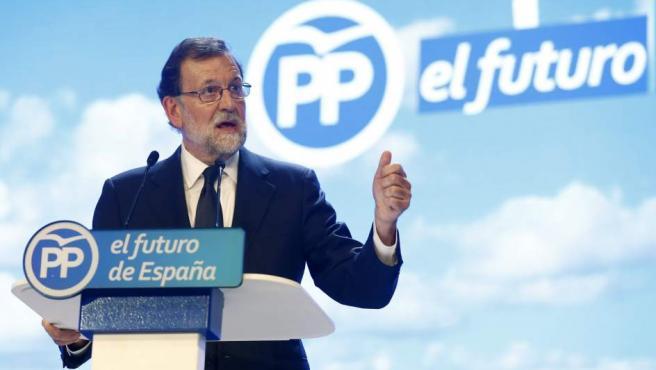 Mariano Rajoy, durante su intervención en la celebración del Congreso Nacional del Partido Popular.