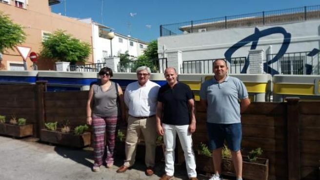Visita del diputado de Servicios Municipales de Jaén a Jódar