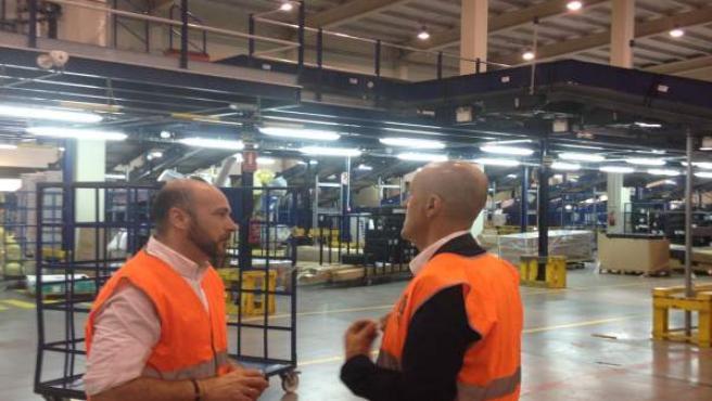 El diputado de Empleo, Manuel Hueso, visita ATE Sistemas