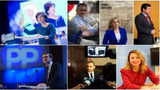 Apoyos valencianos a los candidatos del PP