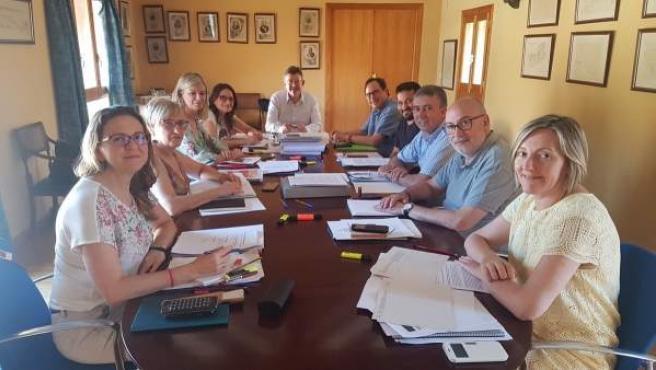 Reunión del Consell en el Seminari de Govern de verano de 2018