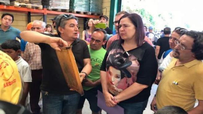 Begoña García, en la jornada del programa Plantabosques
