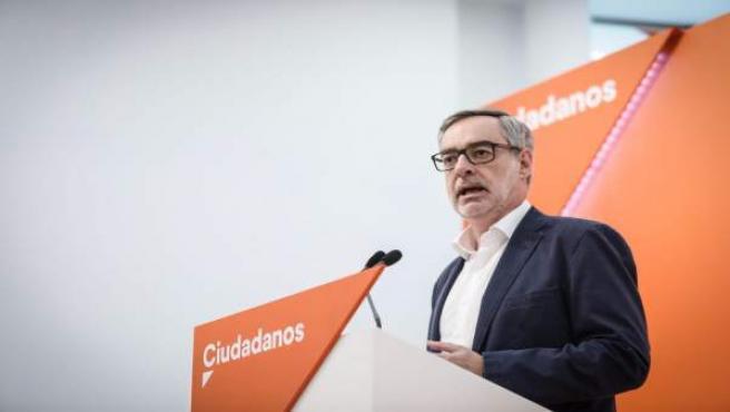 José Manuel Villegas (Cs) en rueda de prensa