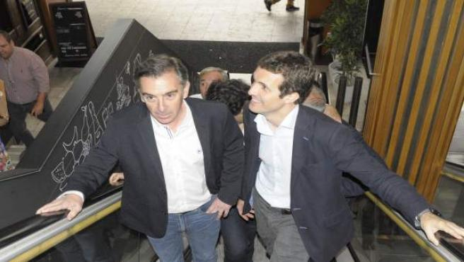 Beamonte con Pablo Casado en un acto celebrado en junio en Zaragoza