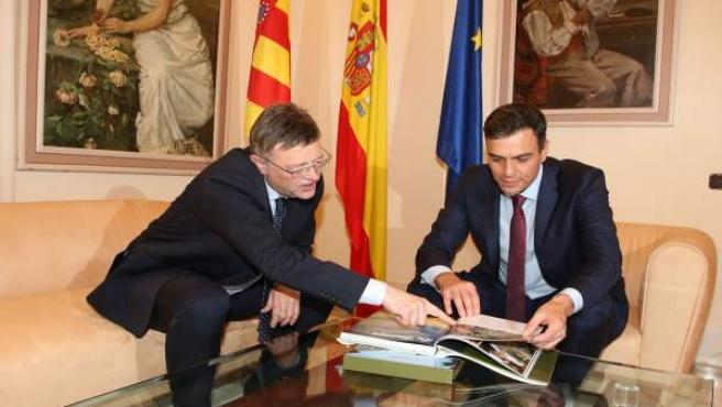 Pedro Sánchez y Ximo Puig se reúnen en el Ayuntamiento de Castelló
