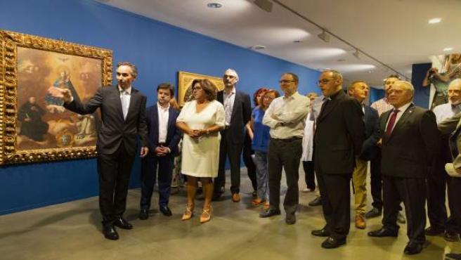 Inauguración de la exposición de Fray Manuel Bayeu.
