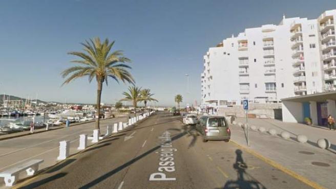 Imagen de una calle de Sant Antoni, en Ibiza.