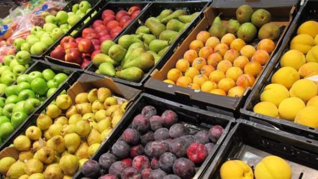 Fruta en un establecimiento de venta.