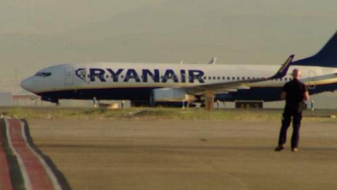 Un avión de la compañía irlandesa, Ryanair.