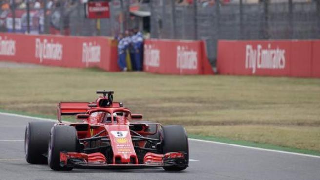 El piloto alemán Sebastian Vettel, durante el GP de Alemania de Fórmula 1.