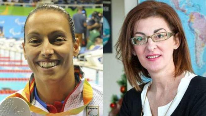 Teresa Perales y Maite Pagazaurtundúa.