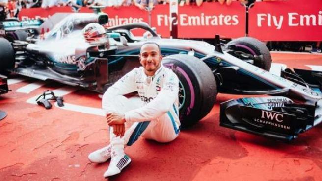 Lewis Hamilton, tras su victoria en el GP de Alemania.