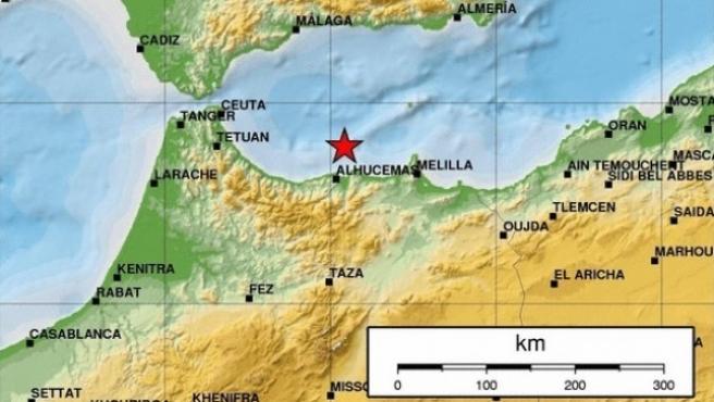 Imagen de archivo de un terremoto registrado en el Mar de Alborán registrado en 2016.