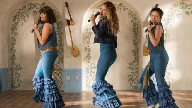Una escena de 'Mamma Mia! Una y otra vez', la secuela del musical de 2008