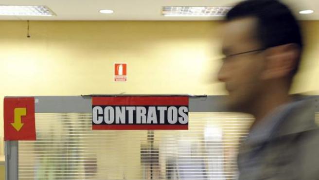 Interior de una oficina del Servicio Público de Empleo.