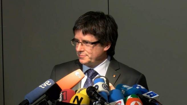 Carles Puigdemont, en Berlín, en una imagen de archivo.