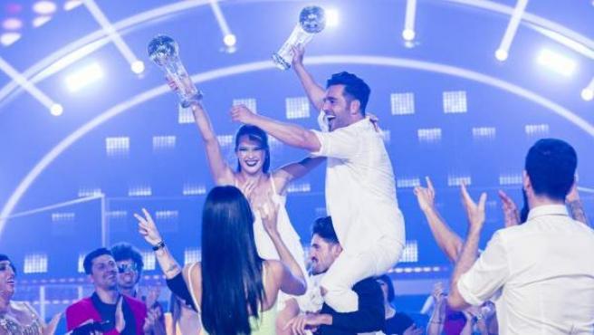 David Bustamante e Yana Olina, ganadores de 'Bailando con las estrellas', en La 1.