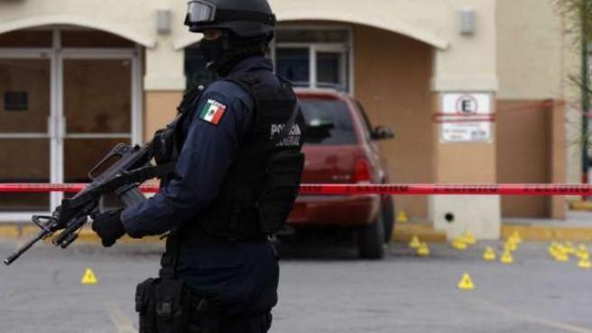 Imagen de archivo de un policía en la ciudad mexicana de Ciudad Juárez.