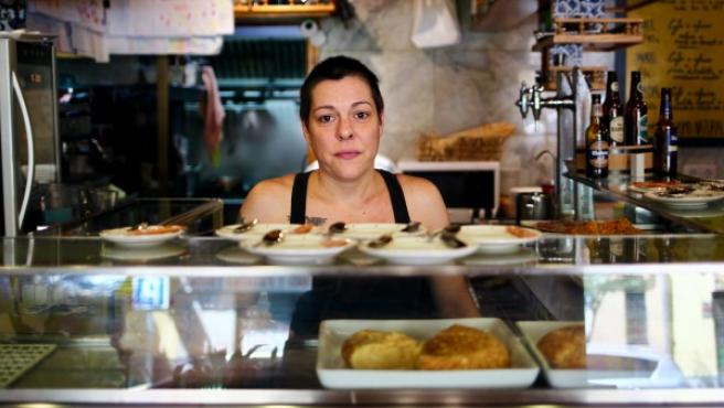 Natalia Pérez, dueña del restaurante asturiano La Manzana.