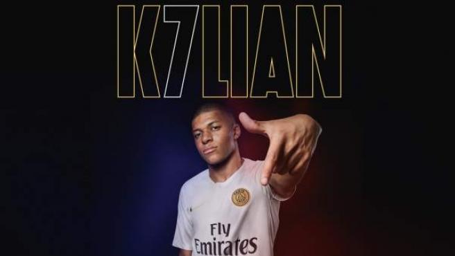 Kylian Mbappé lucirá el dorsal '7' en el PSG.