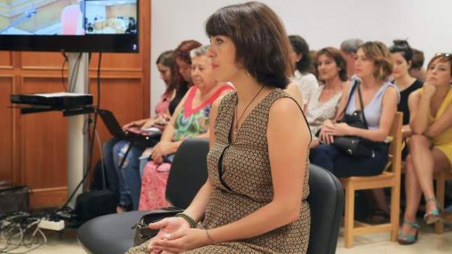 Juana Rivas declara en el juicio por la presunta sustracción de sus hijos.