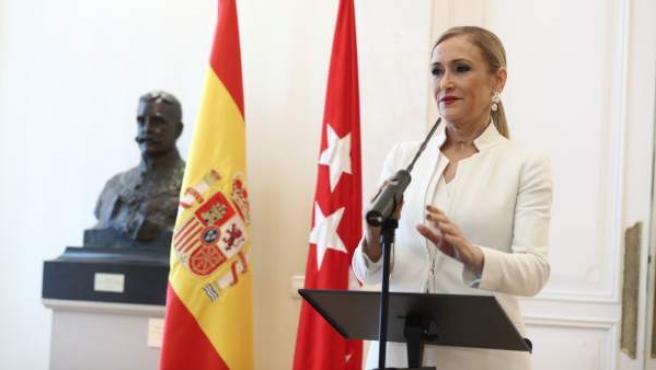 Rueda de prensa de Cristina Cifuentes.