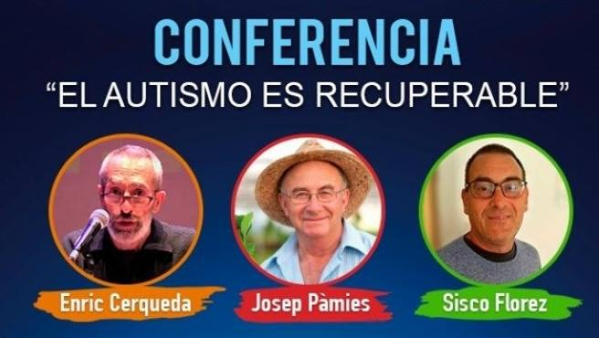 """El cartel del congreso 'El autismo es recuperable' que AETAPI y Confederación Autismo España tacha de """"práctica fraudulentas""""."""