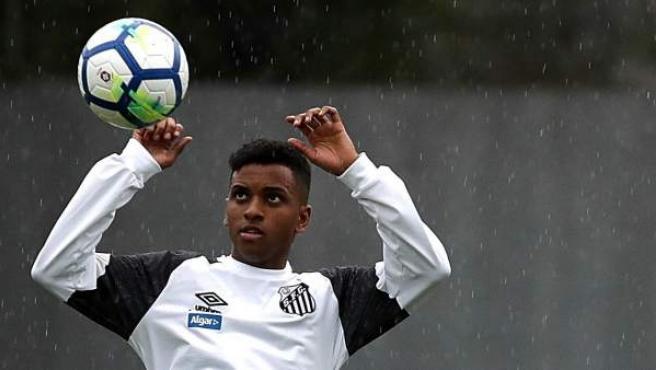 Rodrygo, la joven estrella del Santos.