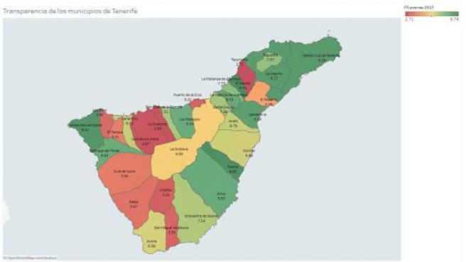 Mapa De Tenerife Municipios.Los Ayuntamientos De Tenerife Y Gran Canaria Aprueban Por Primera Vez En Transparencia