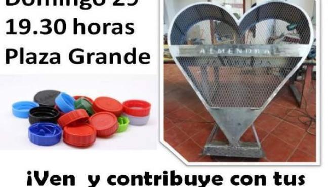 Cartel de la jornada solidaria en Almendral
