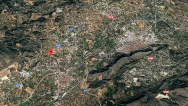 Localización de l'Alcúdia de Crespins