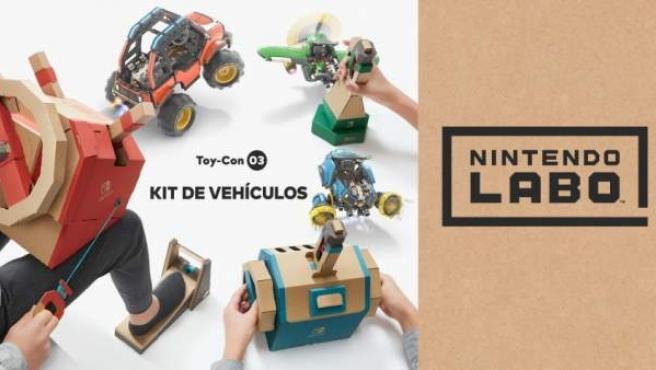 Toy-Con 03: Vehicle Kit, un coche, un avión y un submarino.