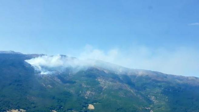 El incendio de Casavieja el pasado jueves