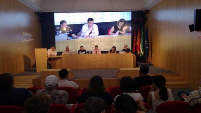 Cabrera en la reunión sobre el plan de refuerzo del Pumarejo