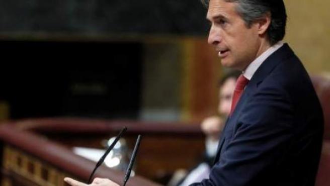 El exministro de Fomento Íñigo de la Serna en el Congreso.