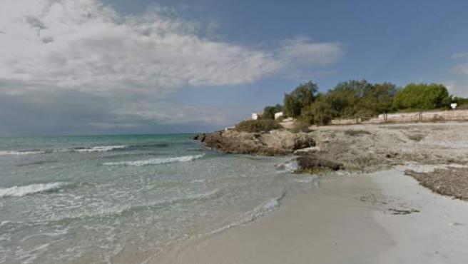 Vista de la playa de Es Trenc, donde ha tenido lugar el suceso.