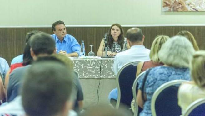 Reunion alcalde con comerciantes zona centro, Maribel Tocon, hotel Cervantesacto