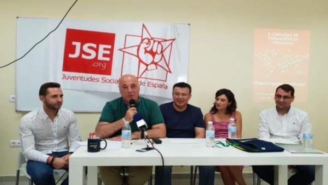 Acto de JSA con Antonio Ruiz (PSOE) en Iznájar (Córdoba)