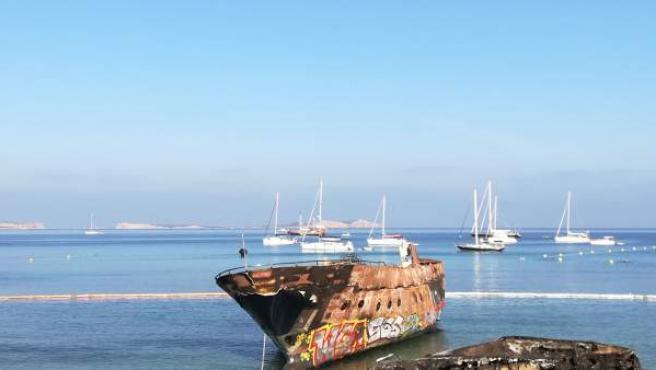 Fondeos incontrolados sobre posidonia en Ibiza