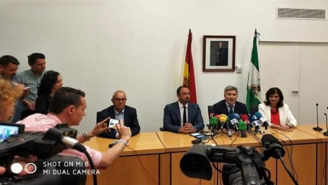 Grande-Marlaska en rueda de prensa en Algeciras
