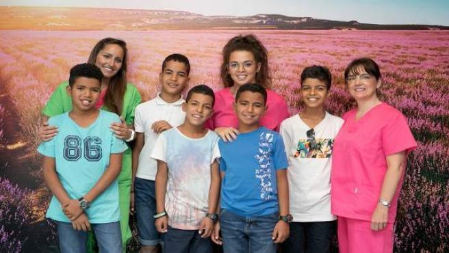 Niños saharauis en la clínica